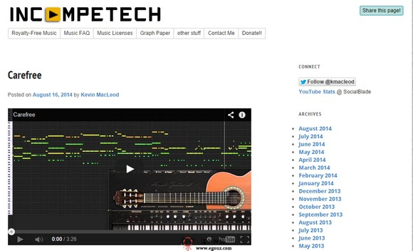 【经典网站】Incompetech:免版税音乐托管平台