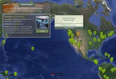 【素材网站】NatureSoundMap:在线自然音效分布图平台