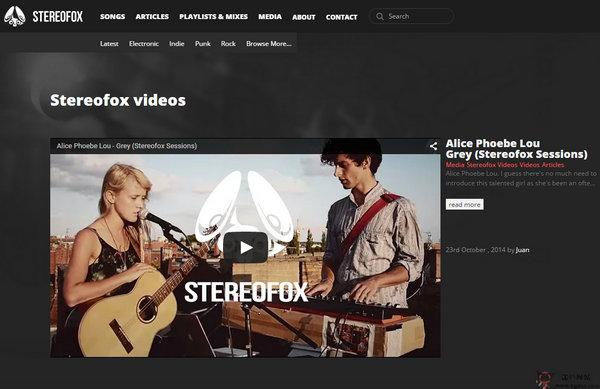 【经典网站】Stereofox:音乐探索社交平台