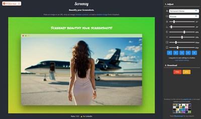 【工具类】在线一键图片美化工具 – Screenzy