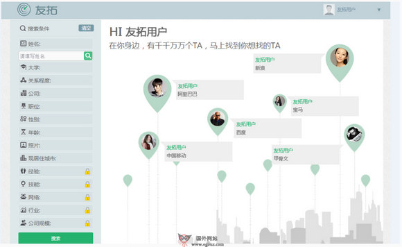 【经典网站】U2Top:友拓搜人搜索引擎