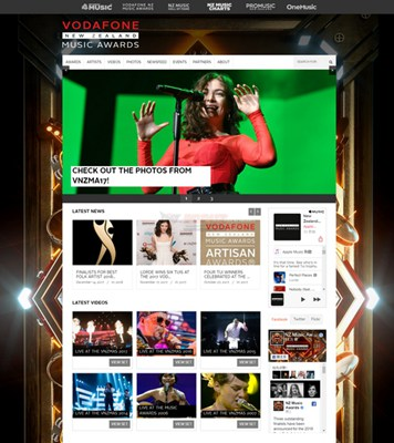 【经典网站】NZMusicAwards:新西兰音乐奖