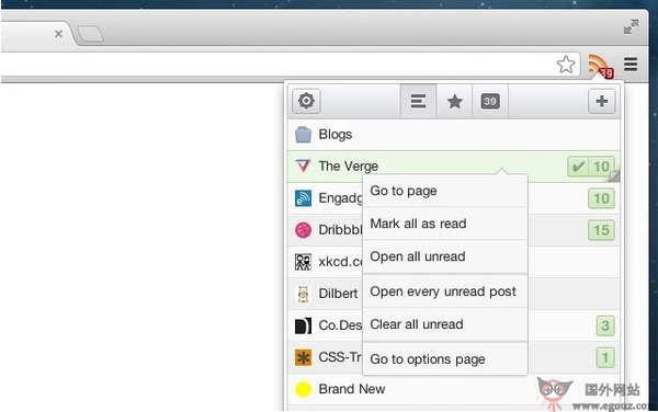 【工具类】Feeder:基于浏览器RSS订阅管理扩展