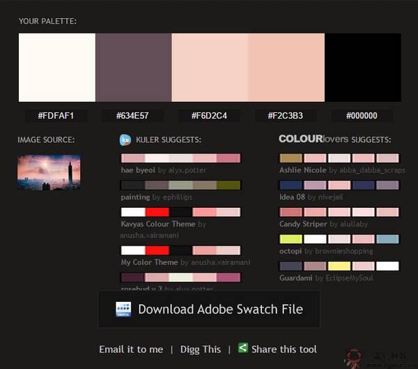 【工具类】Pictaculous:在线照片色彩分析工具
