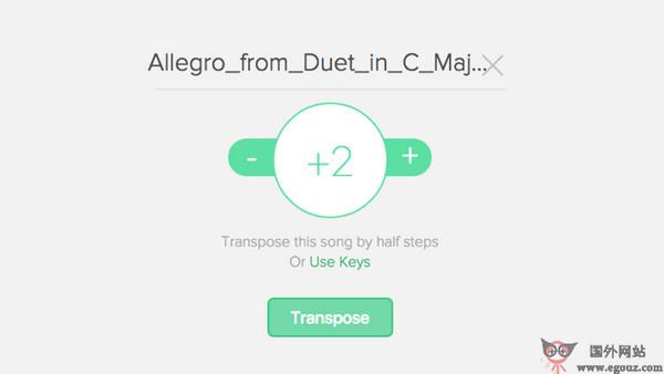 【工具类】Transposr:在线MP3音乐和乐谱转换器
