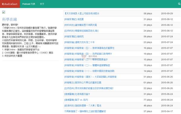【经典网站】MyAudioCast:免费播客媒体社区