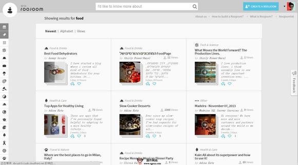 【经典网站】RooJoom:社会化内容智能推荐平台