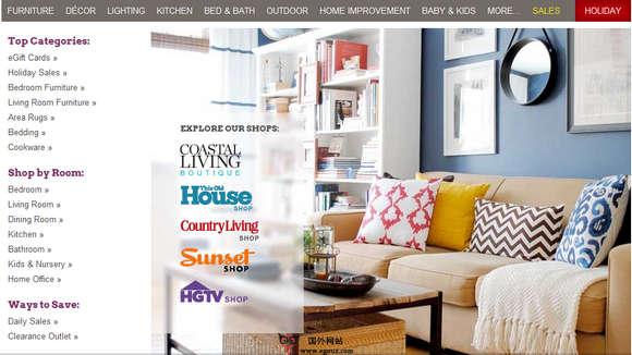 【经典网站】WayFair:在线家庭用品购物平台