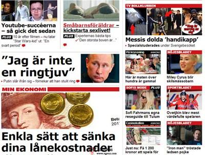 【经典网站】AftOnBladet:瑞典本地热点新闻网
