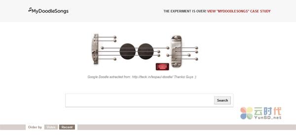 【数据测试】♫MyDoodleSongs-谷歌在线吉他