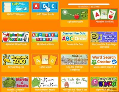 【经典网站】ABCya:免费儿童教育游戏平台