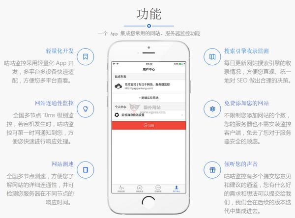 【工具类】咕咕监控 网站和服务器监控工具
