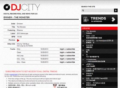 【经典网站】DJcity:在线DJ音乐音乐分享网