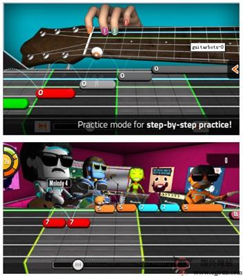 【经典网站】GuitarBots:在线吉他学习游戏平台