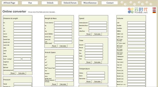 【数据测试】Online converter,多种单位在线转换云应用