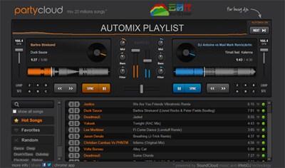 【数据测试】PartyCloud,超酷的在线DJ调音台
