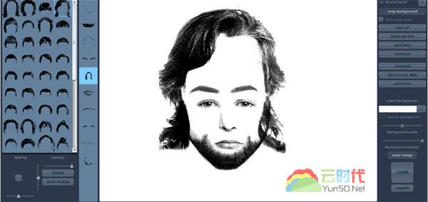 【数据测试】Pimp The Face:有趣好玩的在线人物素描拼图云应用