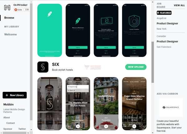 【素材网站】Mobbin|最新移动端设计作品集合