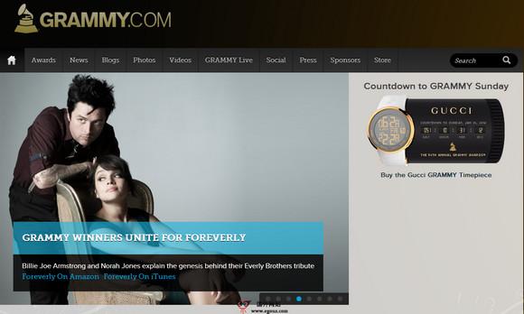 【经典网站】Grammy:世界格莱美音乐奖