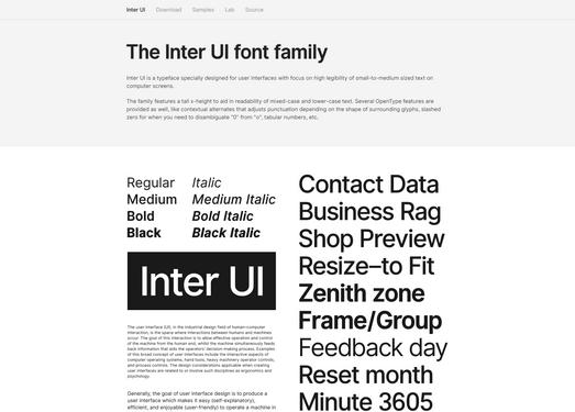 【素材网站】InterUI|侧重于阅读的英文开源字体