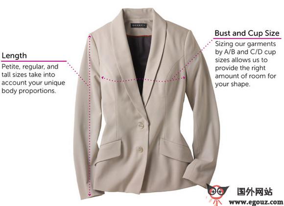 【经典网站】QuincyApparel:基于服装尺码的在线购物