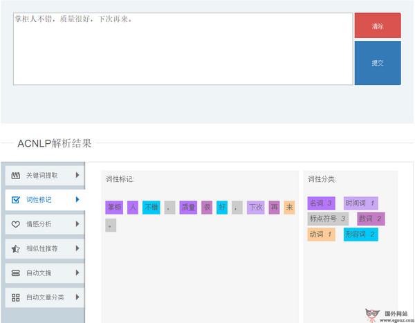 【经典网站】Acnlp:中文语义开放平台