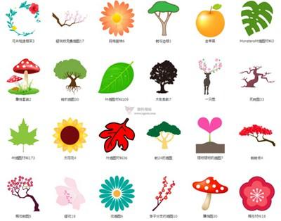 【素材网站】FlodeDesign|免费植物插画素材网