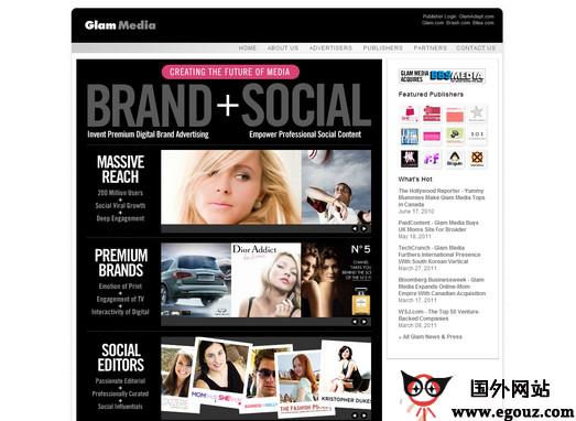 【经典网站】Glammedia:女性网络媒体公司