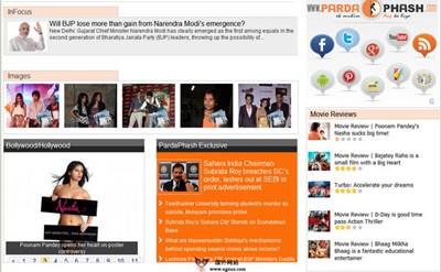 【经典网站】Pardaphash:印度新闻娱乐网