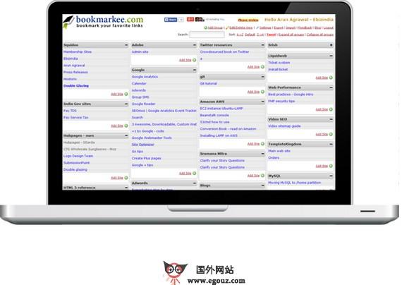 【工具类】BookMarkee:在线社会化书签收藏网