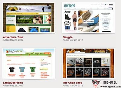 【经典网站】CartFrenzy:电子商务设计图库