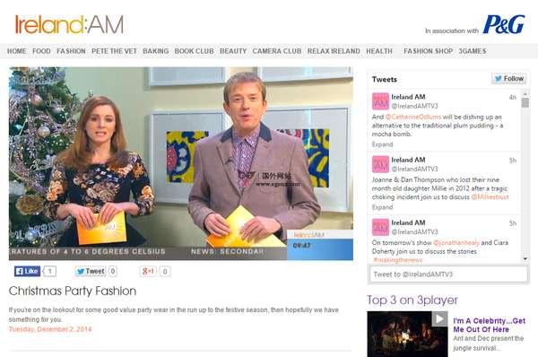 【经典网站】爱尔兰TV3私营电视台