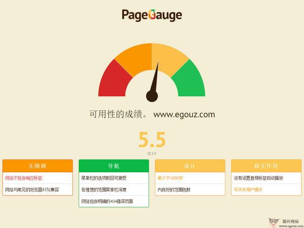 【工具类】PageGauge:网站可用性快速评估工具