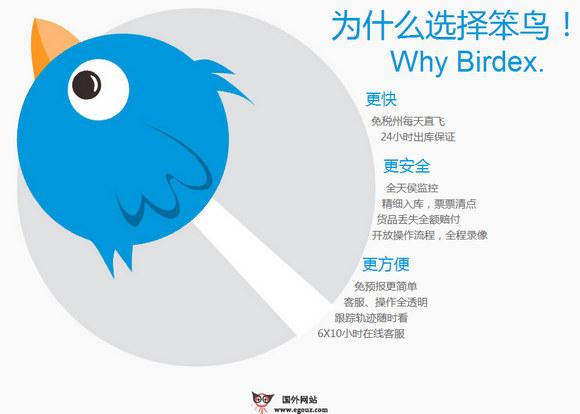 【经典网站】BirdEX:笨鸟海淘转运快递平台