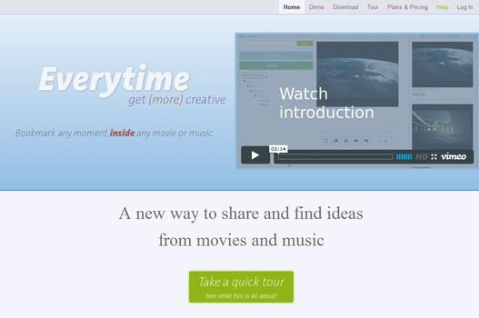 【经典网站】EveryTimeHQ:在线影音书签分享网
