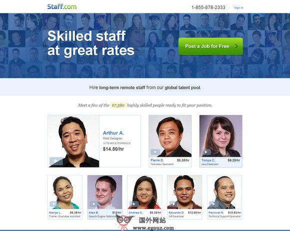 【经典网站】Staff:全球招聘求职发布平台