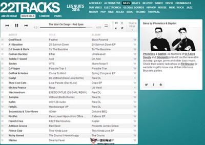 【经典网站】22tracks:在线DJ音乐舞曲平台