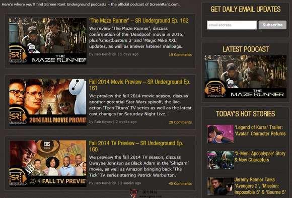 【经典网站】ScreenRant:电影新闻和预告网