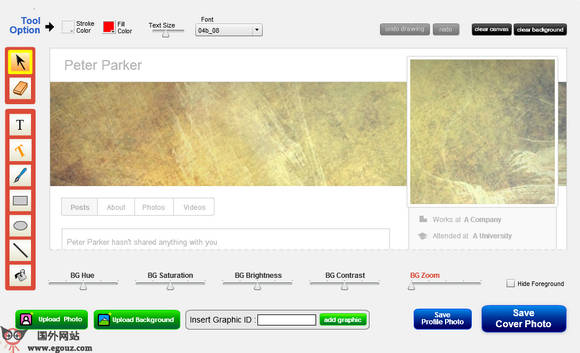 【工具类】CoverPhotoEditor:在线封面大头贴制作工具