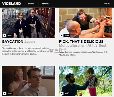 【经典网站】Viceland:青年文化电视频道