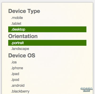【Wordpress相关】检测设备平台,操作系统,方向 Javascript 库:Device.js