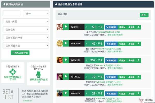 【经典网站】Voiver:在线配音交易平台