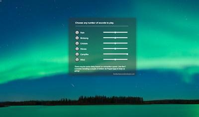【数据测试】Soundstosleepto:HTML5开发的自然背景声音应用