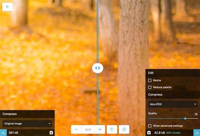 【数据测试】Squoosh,一款开源的在线图像转换应用
