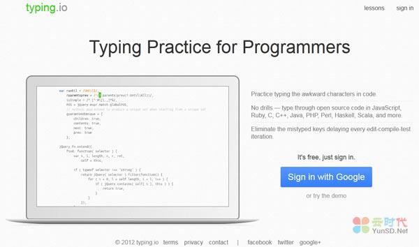 【数据测试】Typing Practice:在线练习敲代码,程序员专用!