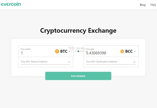 【经典网站】Evercoin 加密型货币汇率查询网