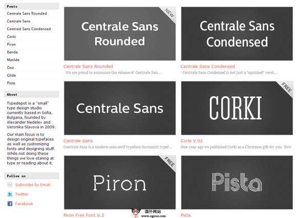 【素材网站】TypeDepot:在线原型字体设计网