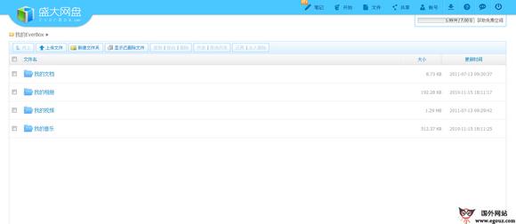 【经典网站】EverBox:盛大云存储网盘分享平台