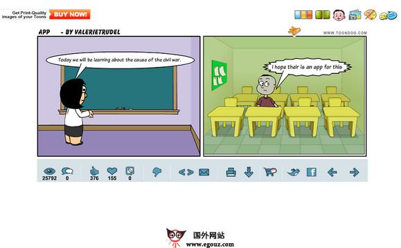 【经典网站】ToonDoo:在线漫画制作分享社区