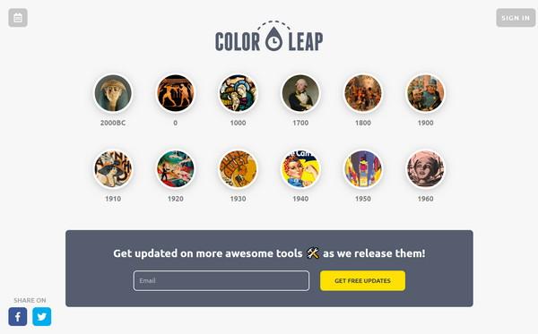【素材网站】色彩配色组合时光机 -Color Leap